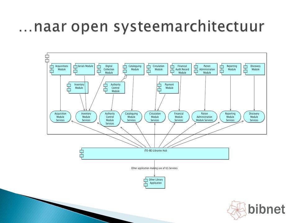 …naar open systeemarchitectuur