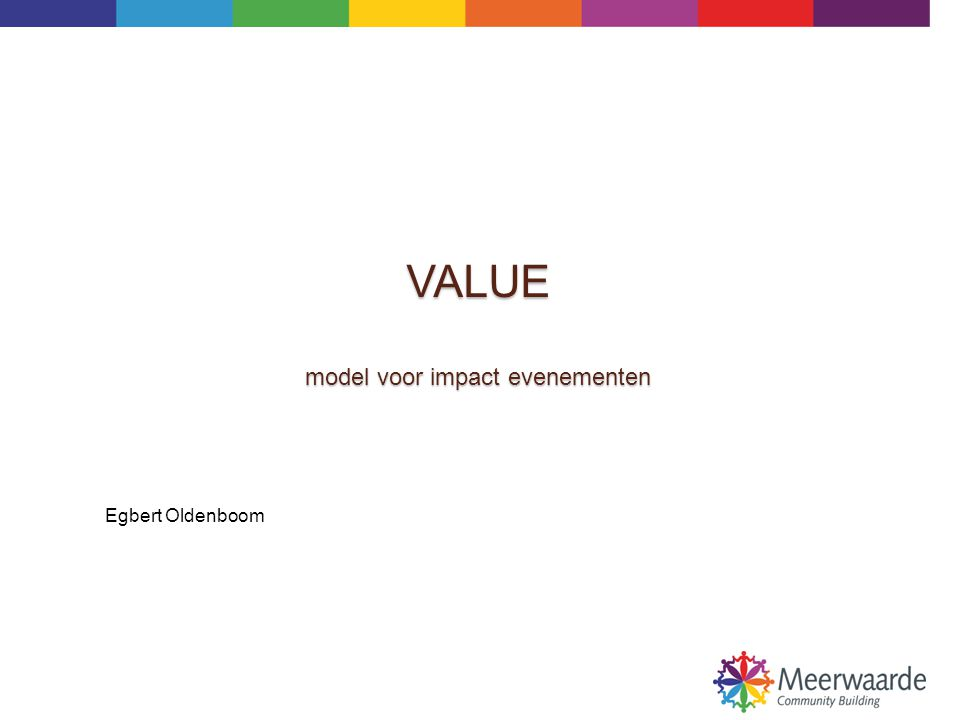 VALUE model voor impact evenementen