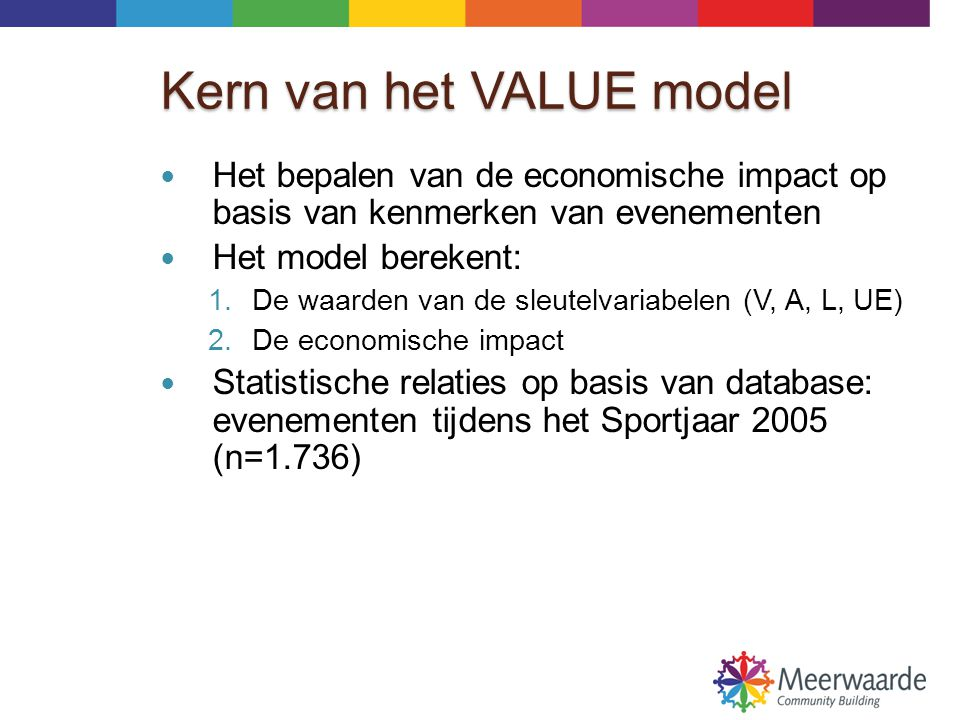 Kern van het VALUE model
