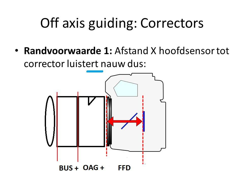 Off axis guiding: Correctors
