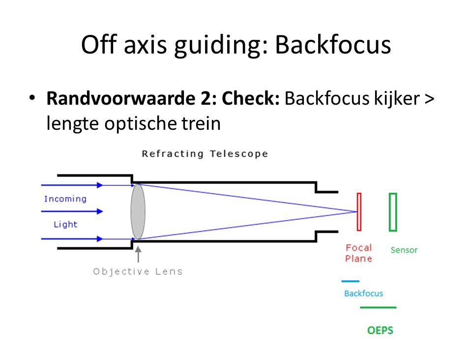 Off axis guiding: Backfocus