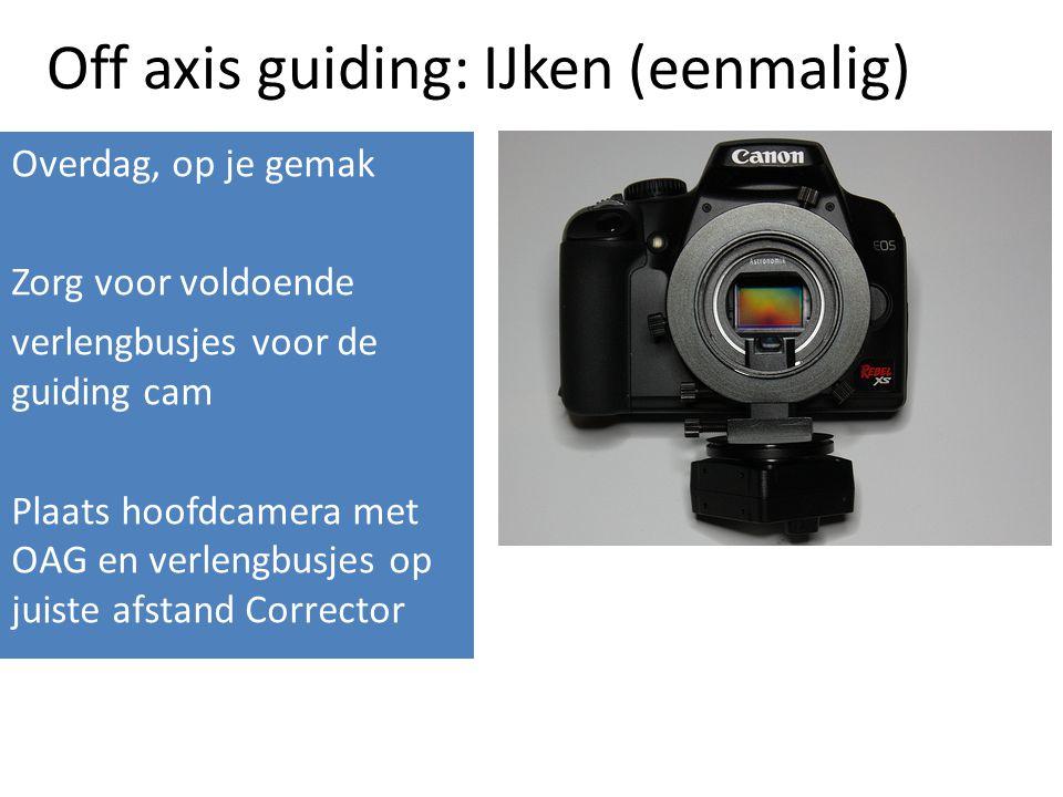 Off axis guiding: IJken (eenmalig)