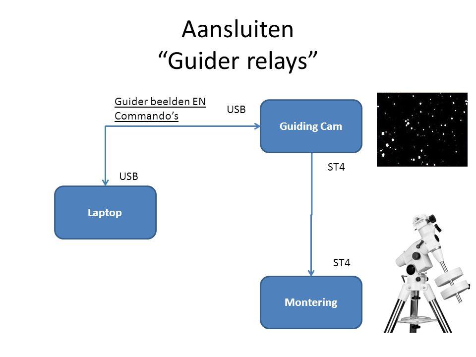 Aansluiten Guider relays