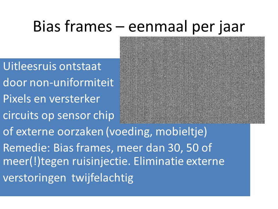 Bias frames – eenmaal per jaar