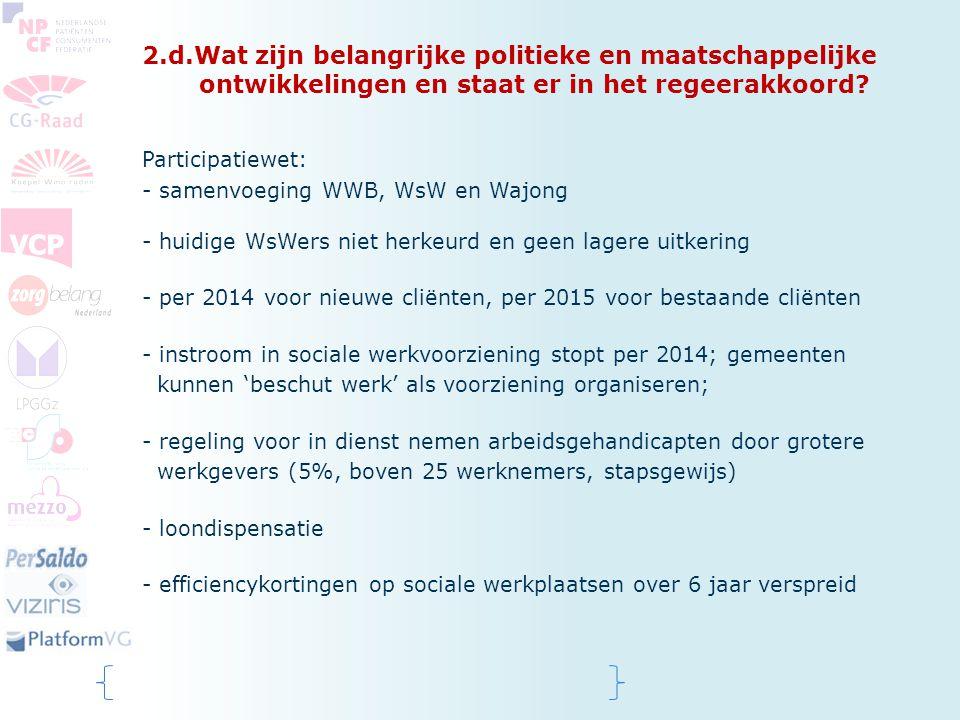 2.d.Wat zijn belangrijke politieke en maatschappelijke ontwikkelingen en staat er in het regeerakkoord