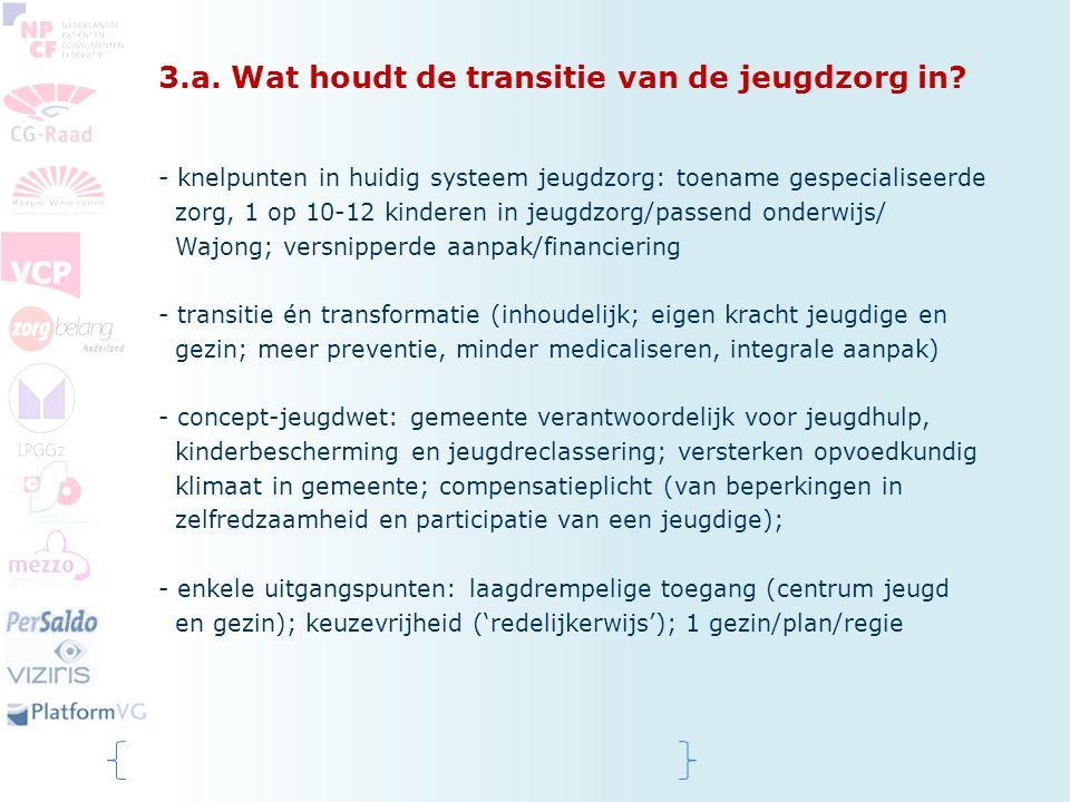 3.a. Wat houdt de transitie van de jeugdzorg in