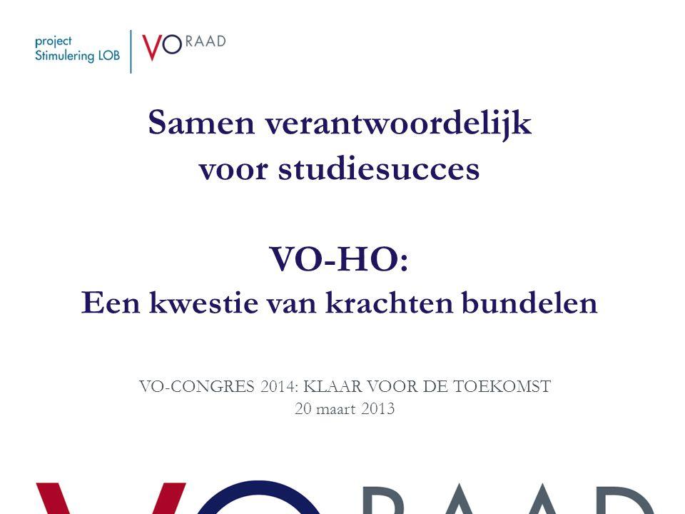 VO-CONGRES 2014: KLAAR VOOR DE TOEKOMST 20 maart 2013