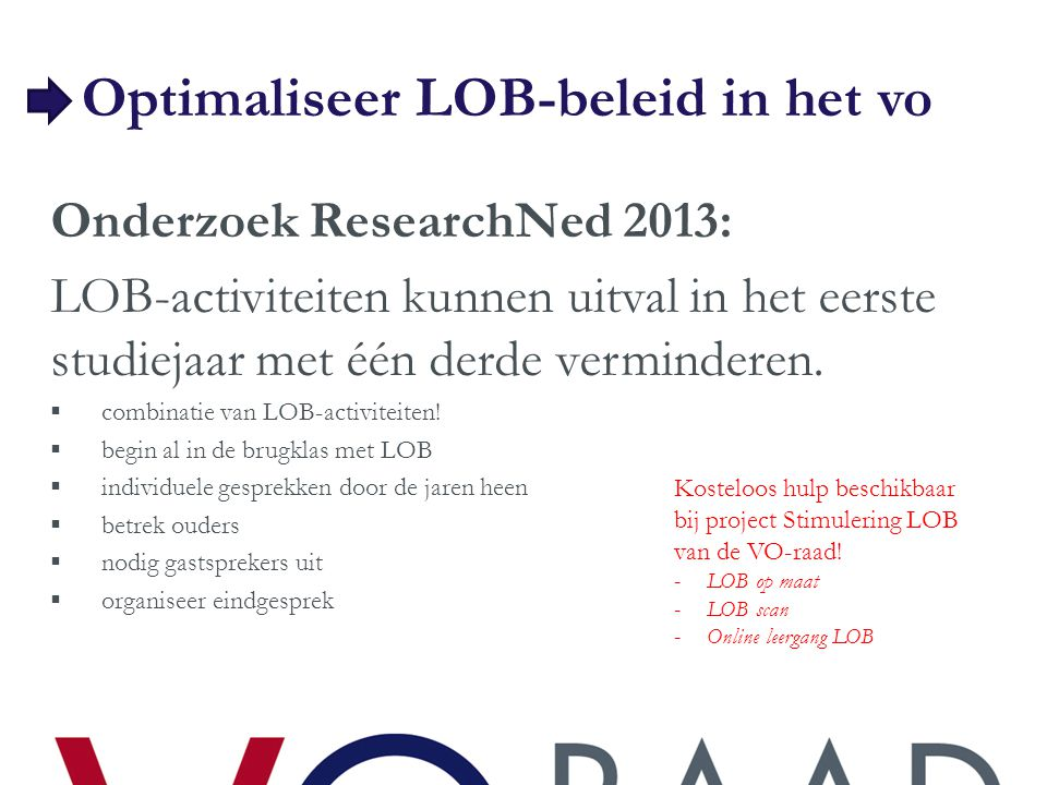 Optimaliseer LOB-beleid in het vo