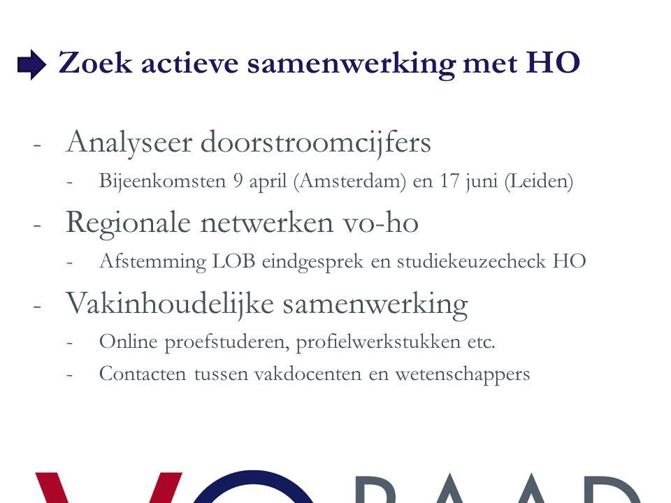 Zoek actieve samenwerking met HO