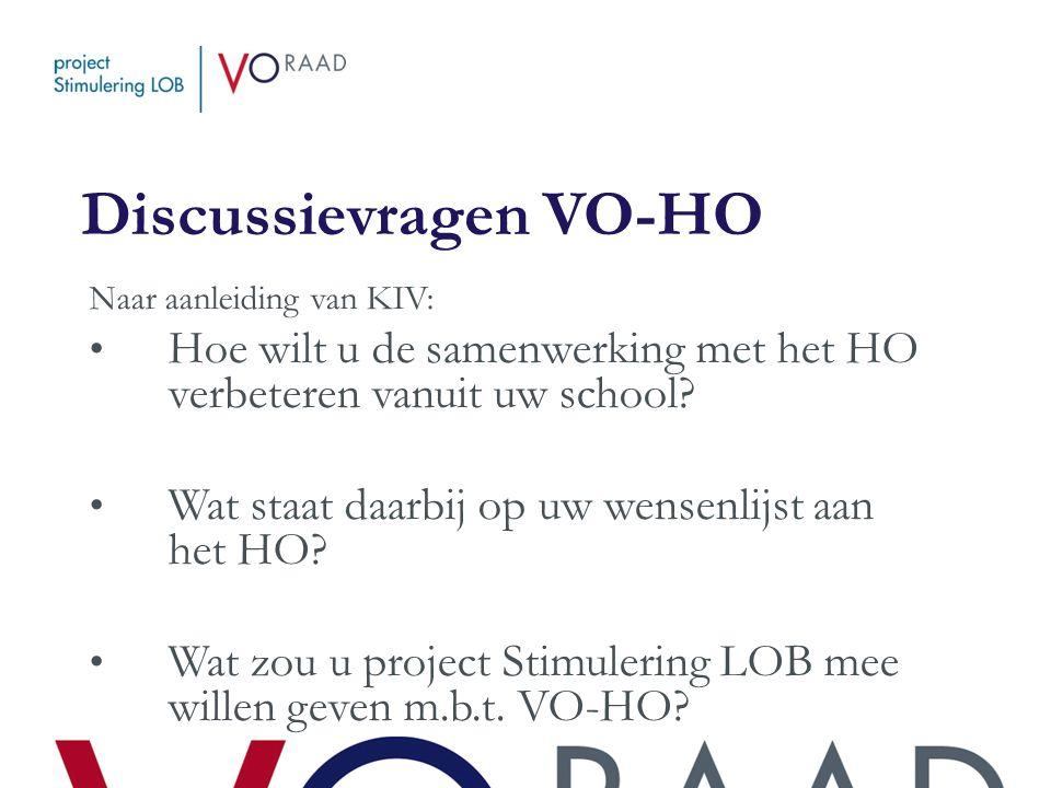 Discussievragen VO-HO