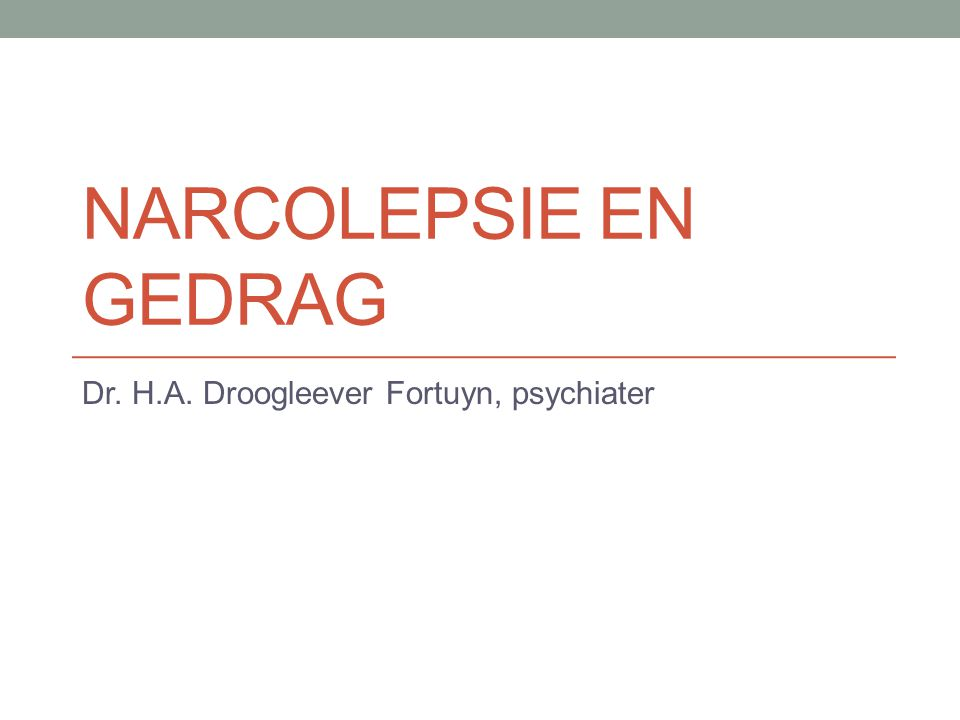 Dr. H.A. Droogleever Fortuyn, psychiater