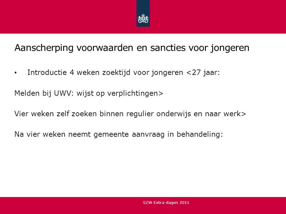 Aanscherping voorwaarden en sancties voor jongeren
