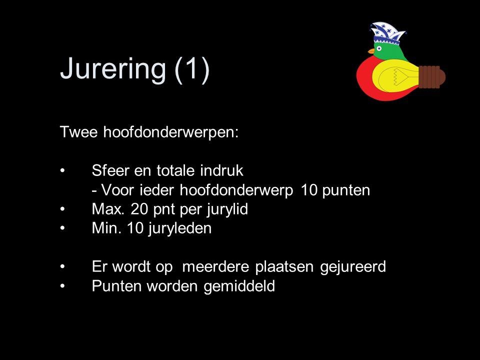 Jurering (1) Twee hoofdonderwerpen: Sfeer en totale indruk