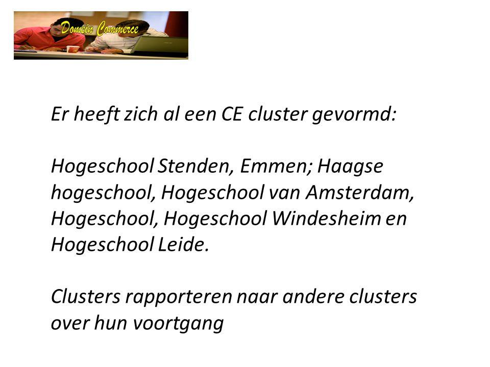Er heeft zich al een CE cluster gevormd: