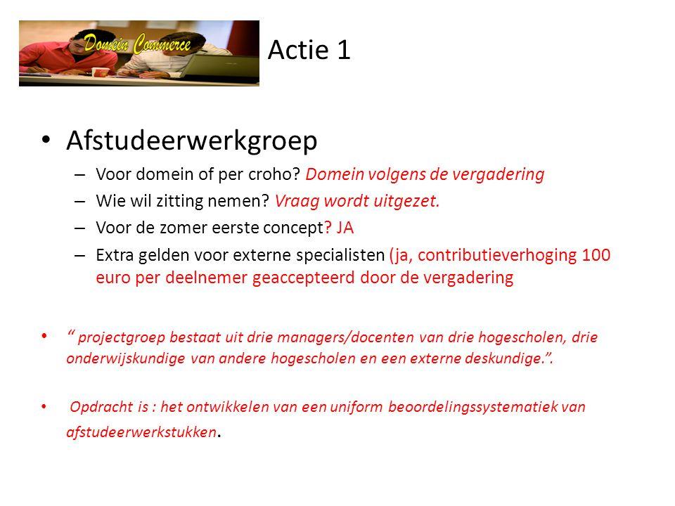 Actie 1 Afstudeerwerkgroep