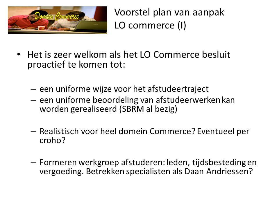 Voorstel plan van aanpak LO commerce (I)