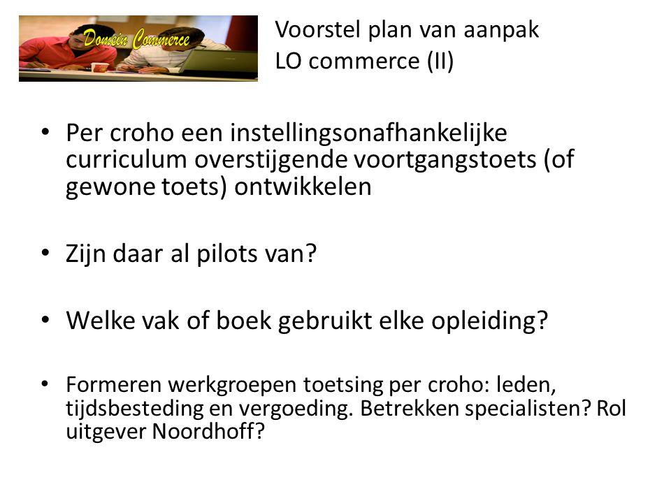Voorstel plan van aanpak LO commerce (II)