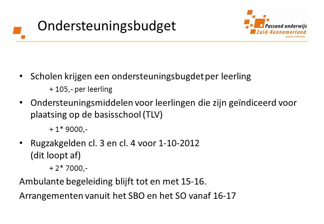 Ondersteuningsbudget