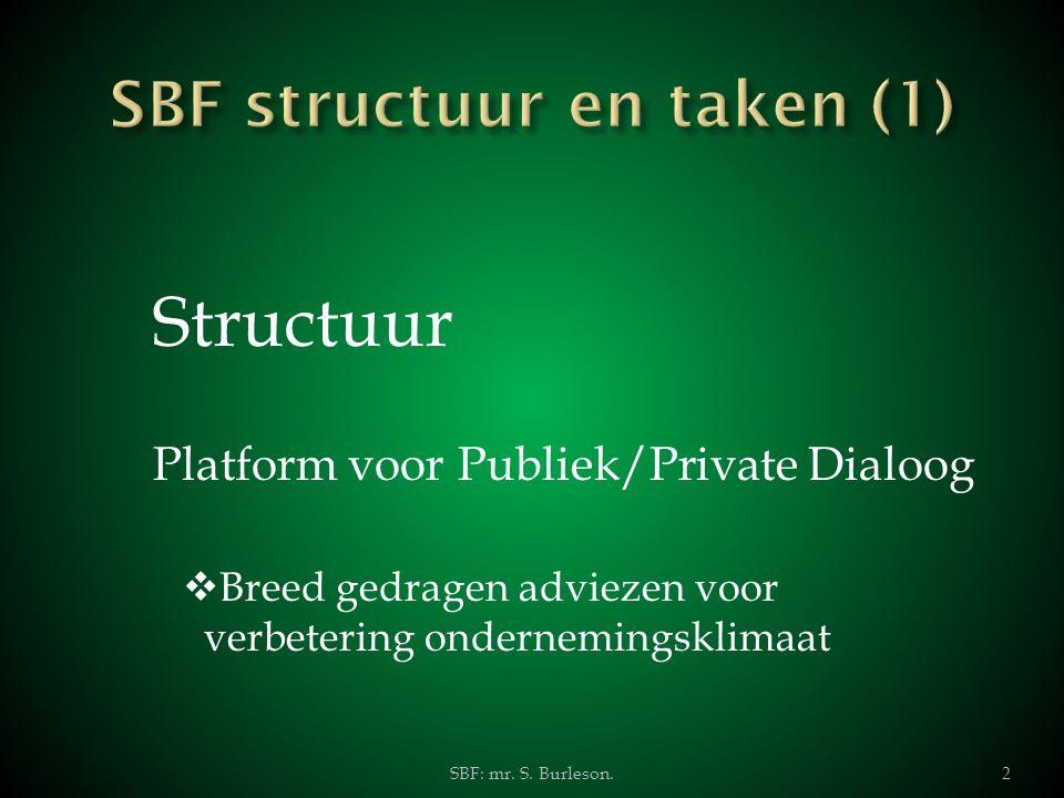 SBF structuur en taken (1)