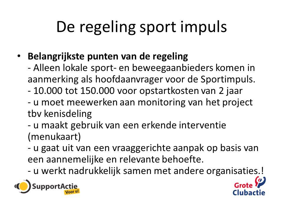 De regeling sport impuls