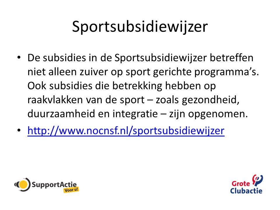 Sportsubsidiewijzer