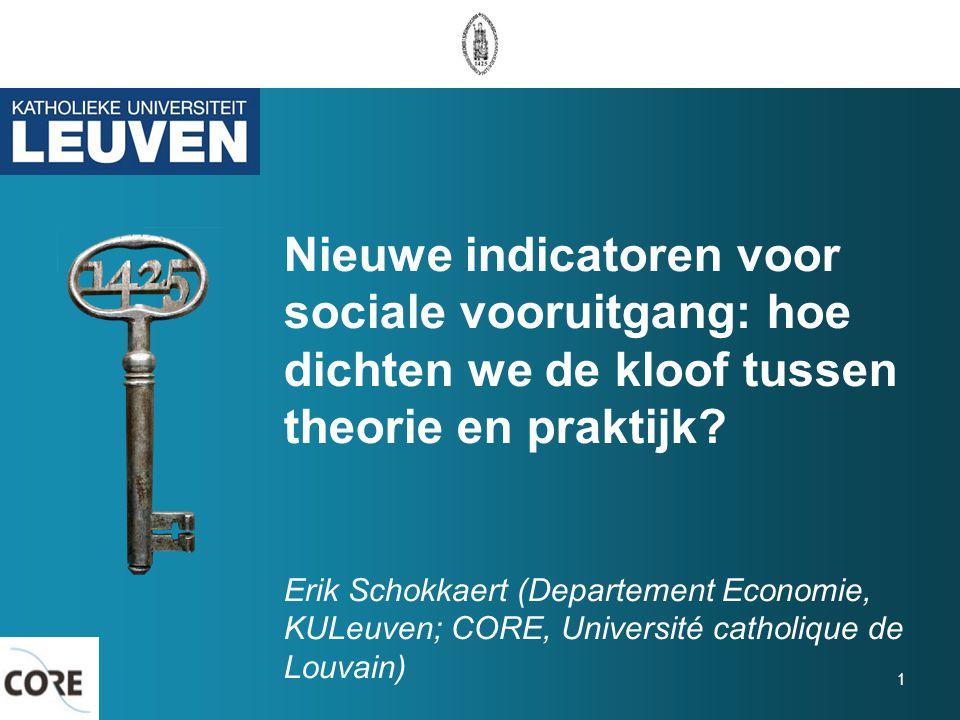 Nieuwe indicatoren voor sociale vooruitgang: hoe dichten we de kloof tussen theorie en praktijk.