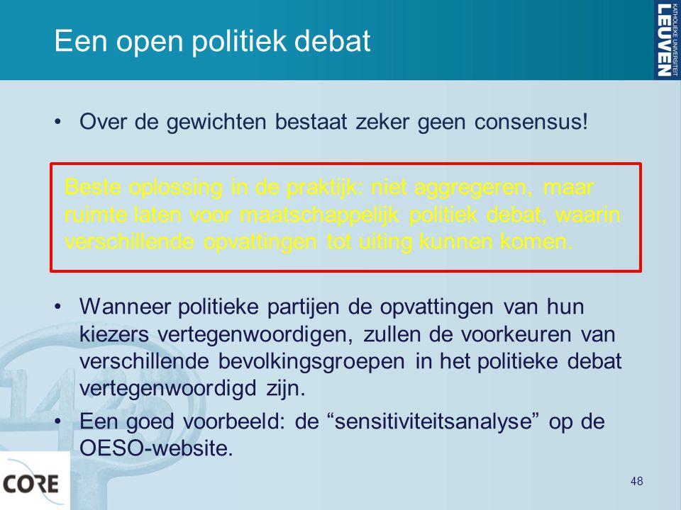 Een open politiek debat