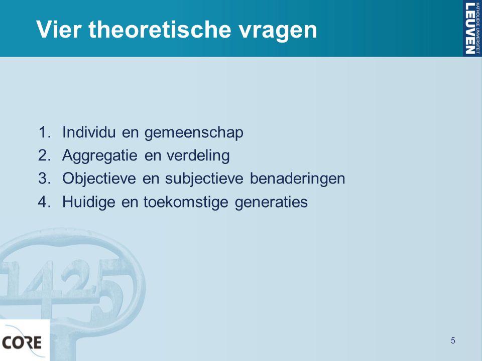 Vier theoretische vragen