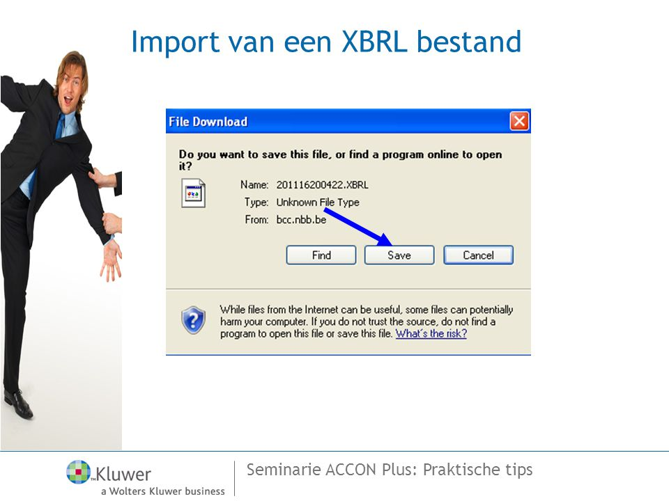 Import van een XBRL bestand