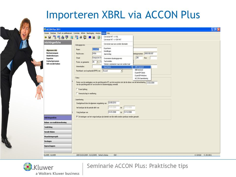 Importeren XBRL via ACCON Plus