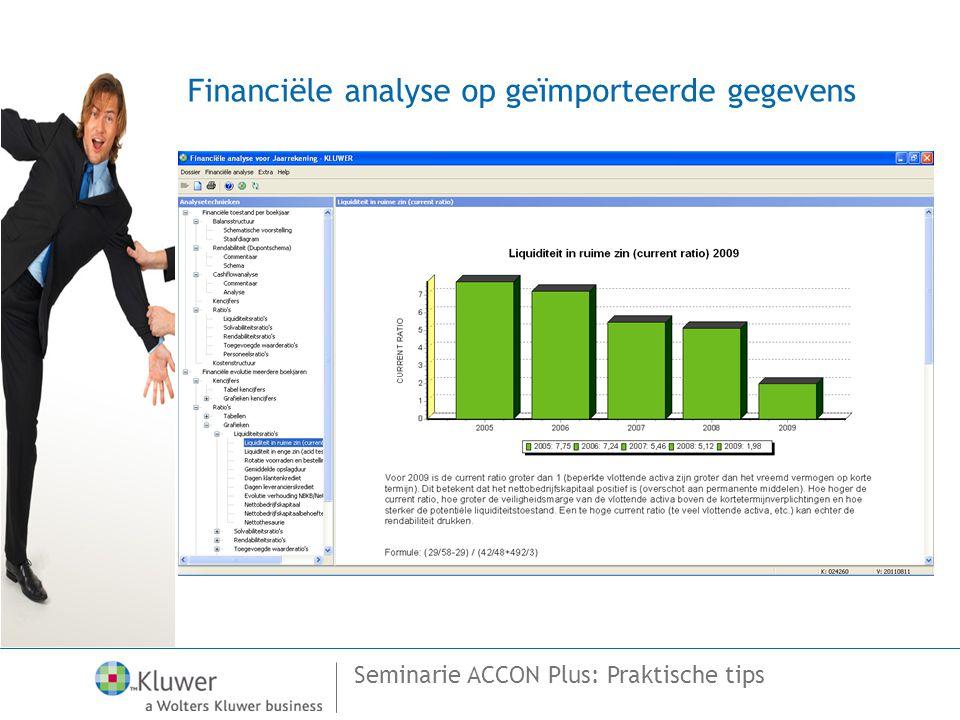 Financiële analyse op geïmporteerde gegevens