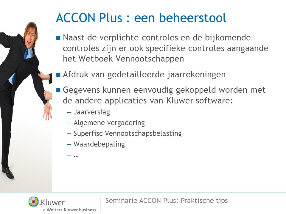 ACCON Plus : een beheerstool