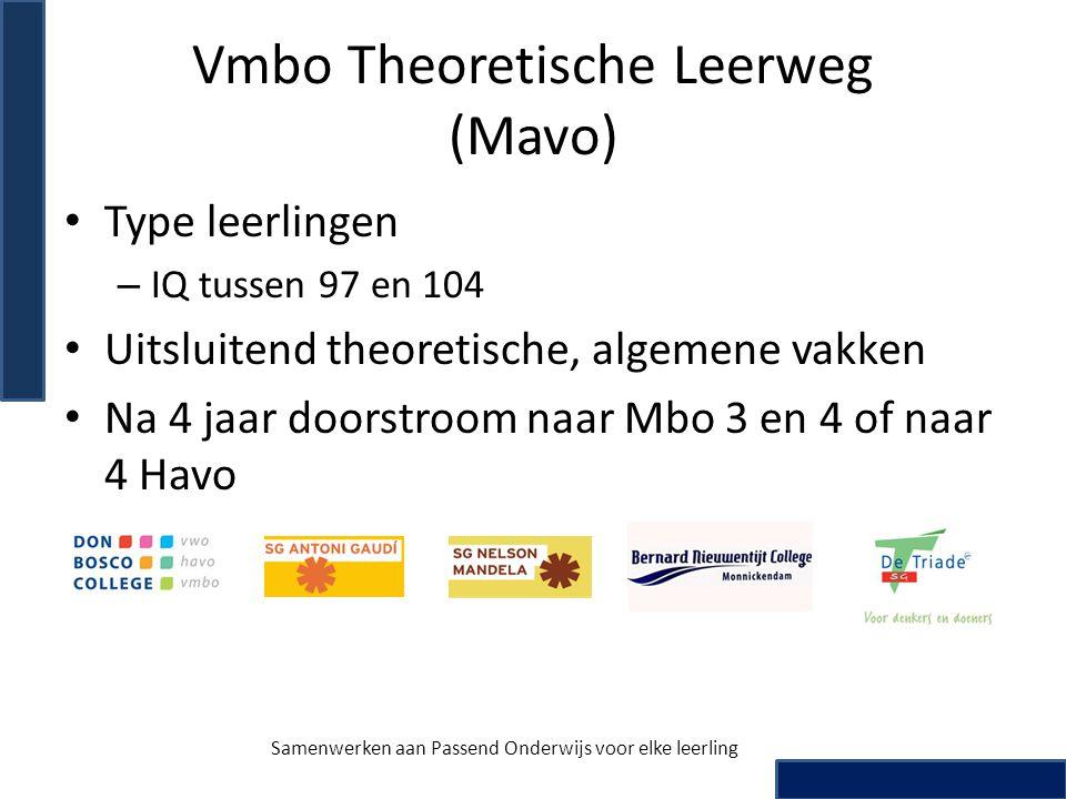 Vmbo Theoretische Leerweg (Mavo)