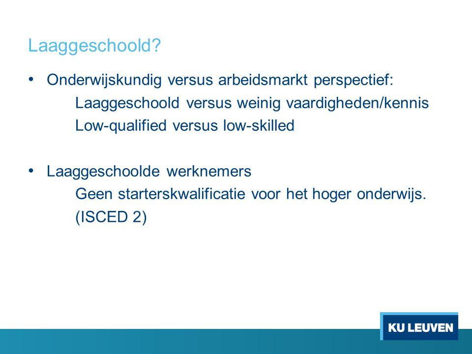 Laaggeschoold Onderwijskundig versus arbeidsmarkt perspectief: