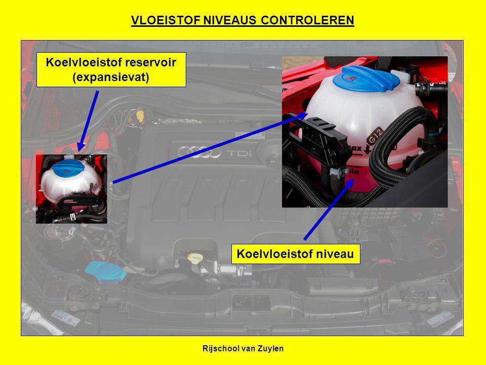 VLOEISTOF NIVEAUS CONTROLEREN Koelvloeistof reservoir (expansievat)