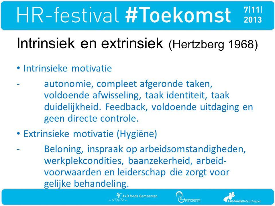 Intrinsiek en extrinsiek (Hertzberg 1968)
