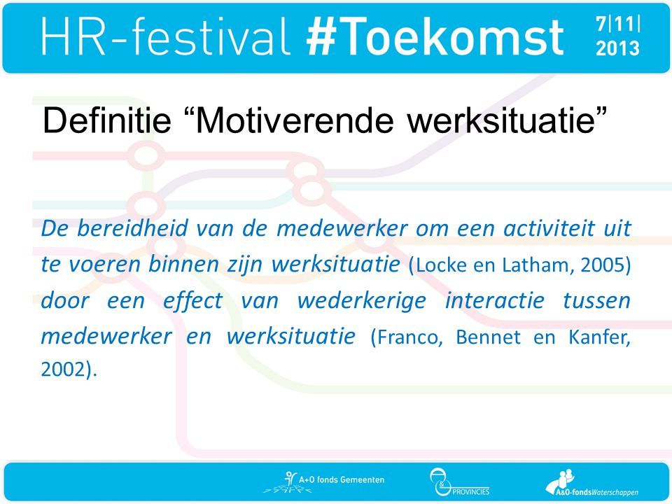 Definitie Motiverende werksituatie