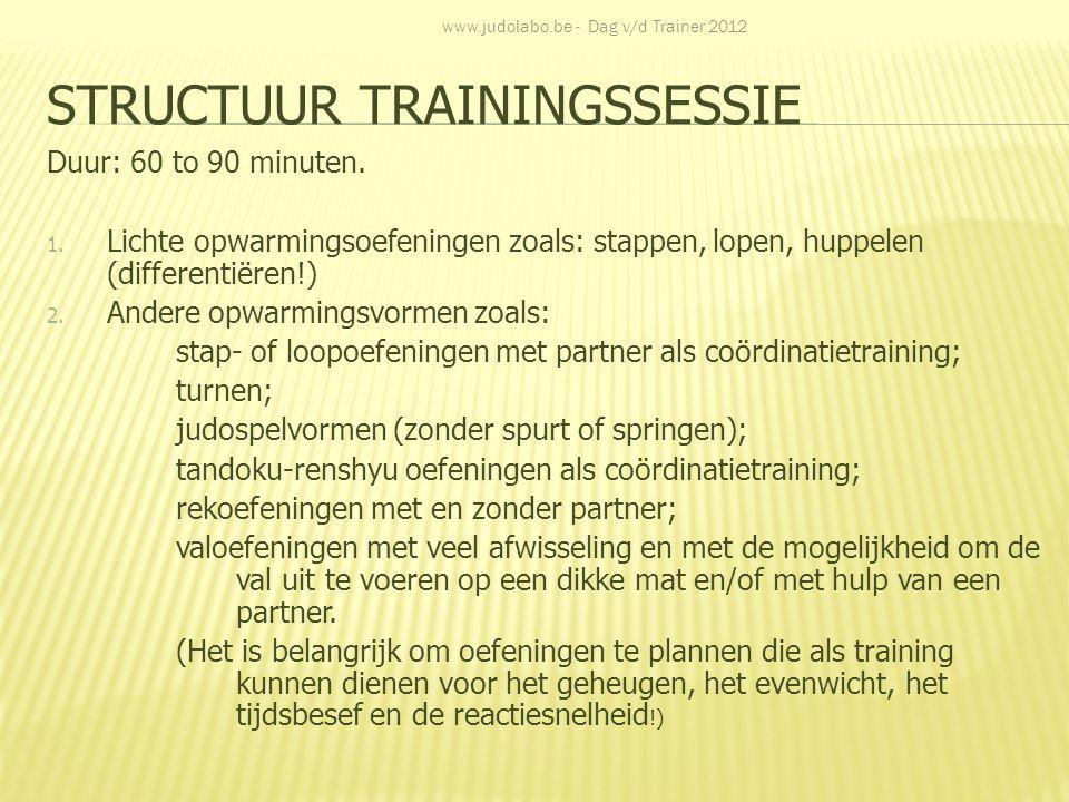 Structuur trainingssessie