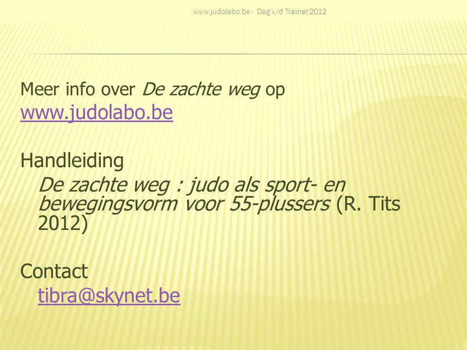 www.judolabo.be Handleiding