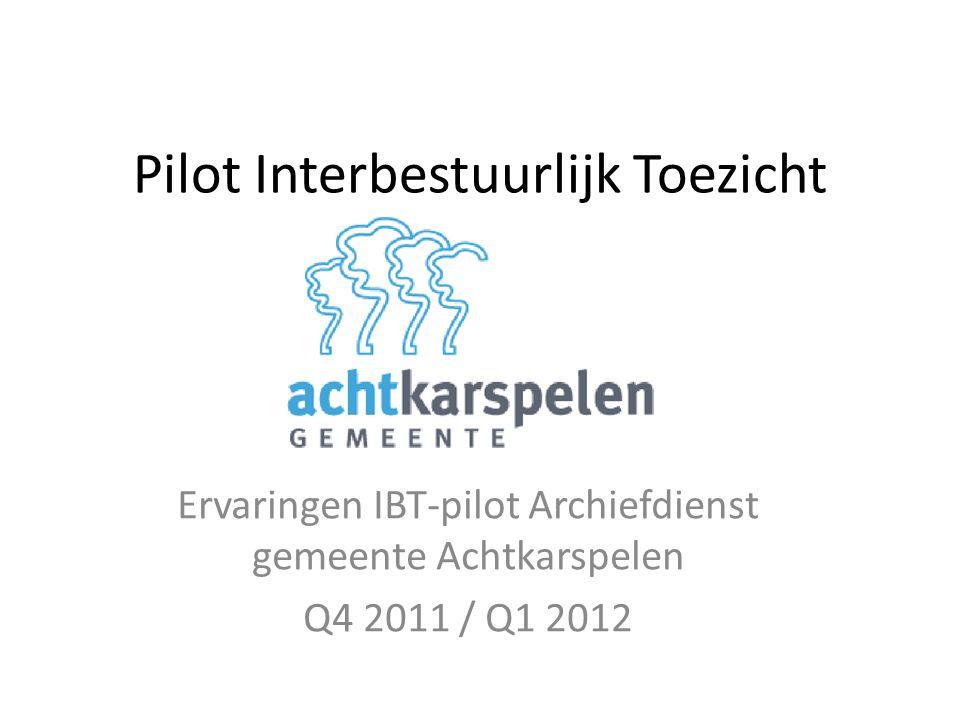 Pilot Interbestuurlijk Toezicht