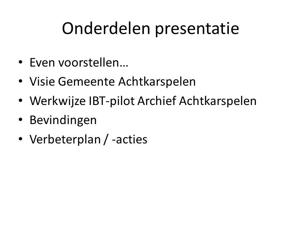 Onderdelen presentatie