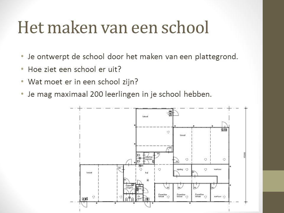 Het maken van een school