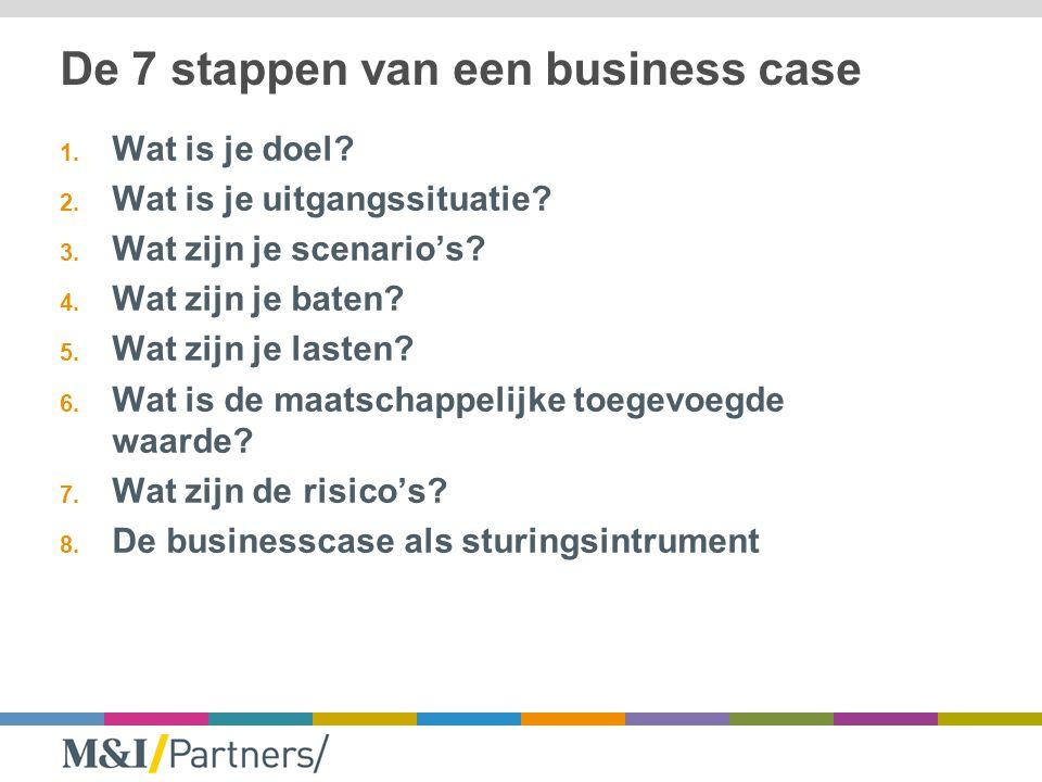 De 7 stappen van een business case