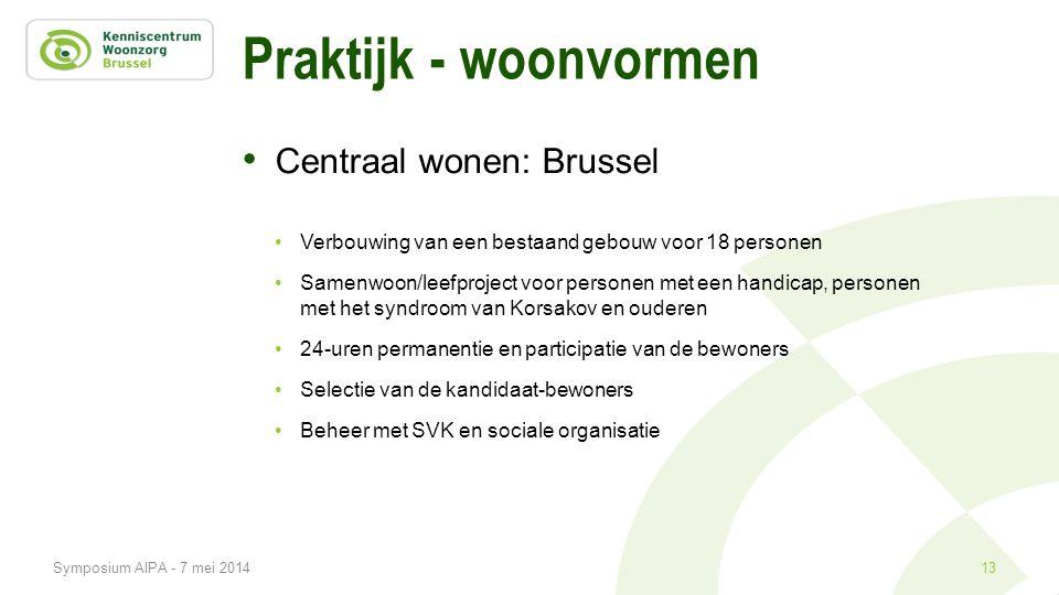 Praktijk - woonvormen Centraal wonen: Brussel