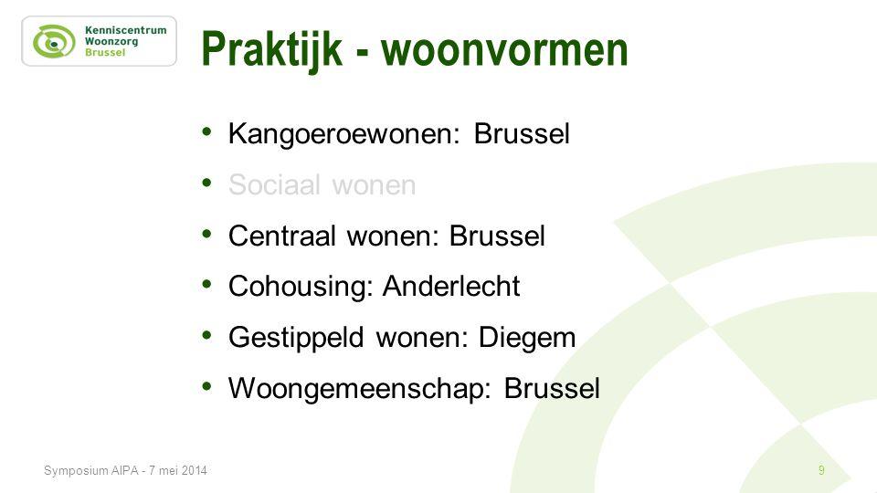 Praktijk - woonvormen Kangoeroewonen: Brussel Sociaal wonen