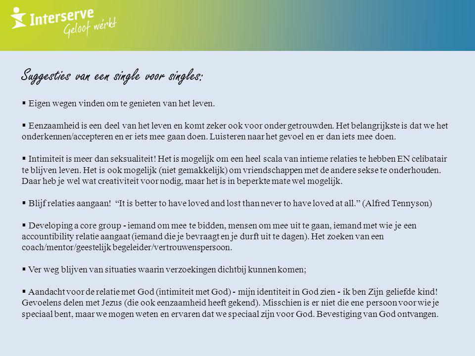 Suggesties van een single voor singles:
