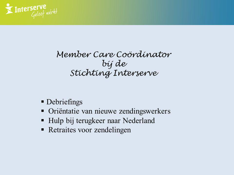 Member Care Coördinator