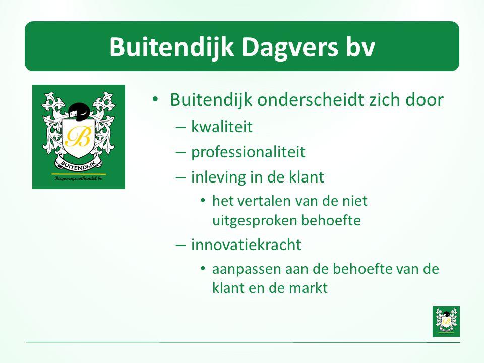 Buitendijk Dagvers bv Buitendijk onderscheidt zich door kwaliteit