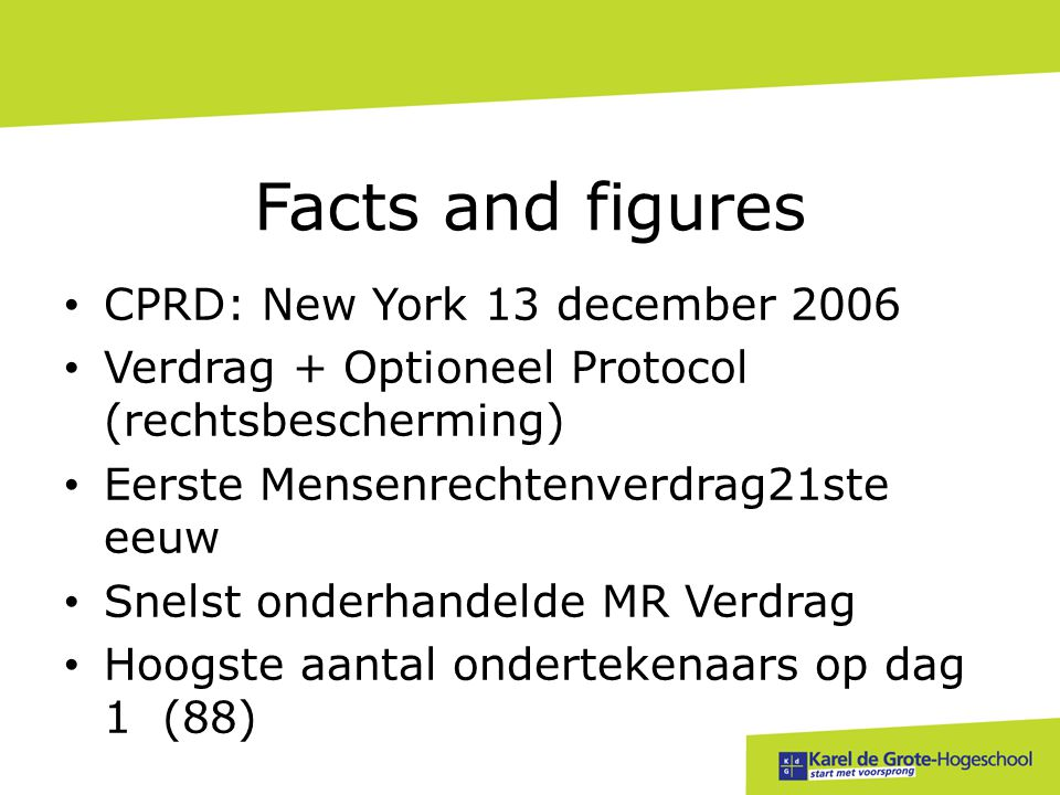 Facts and figures CPRD: New York 13 december 2006
