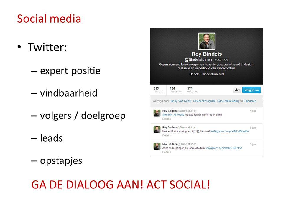 GA DE DIALOOG AAN! ACT SOCIAL!